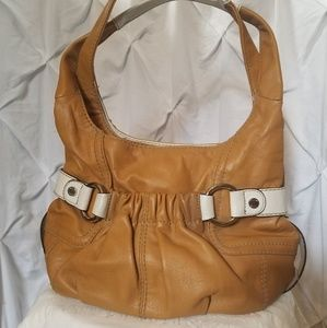 Tignanello Tan/White Leather Purse